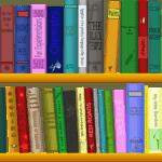 Bücherregal-Symbolbild