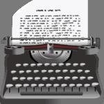 Schreibmaschine-Symbolbild
