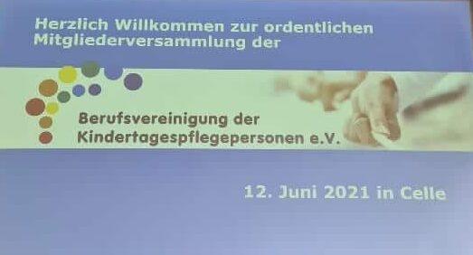 Mitgliederversammlung 2021 Celle